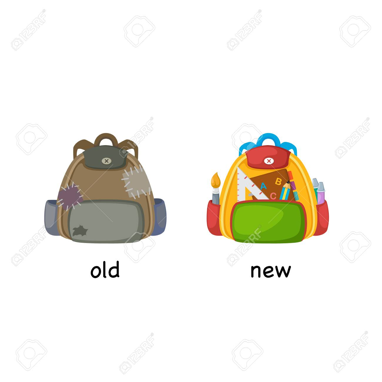 Old and New Clip Art