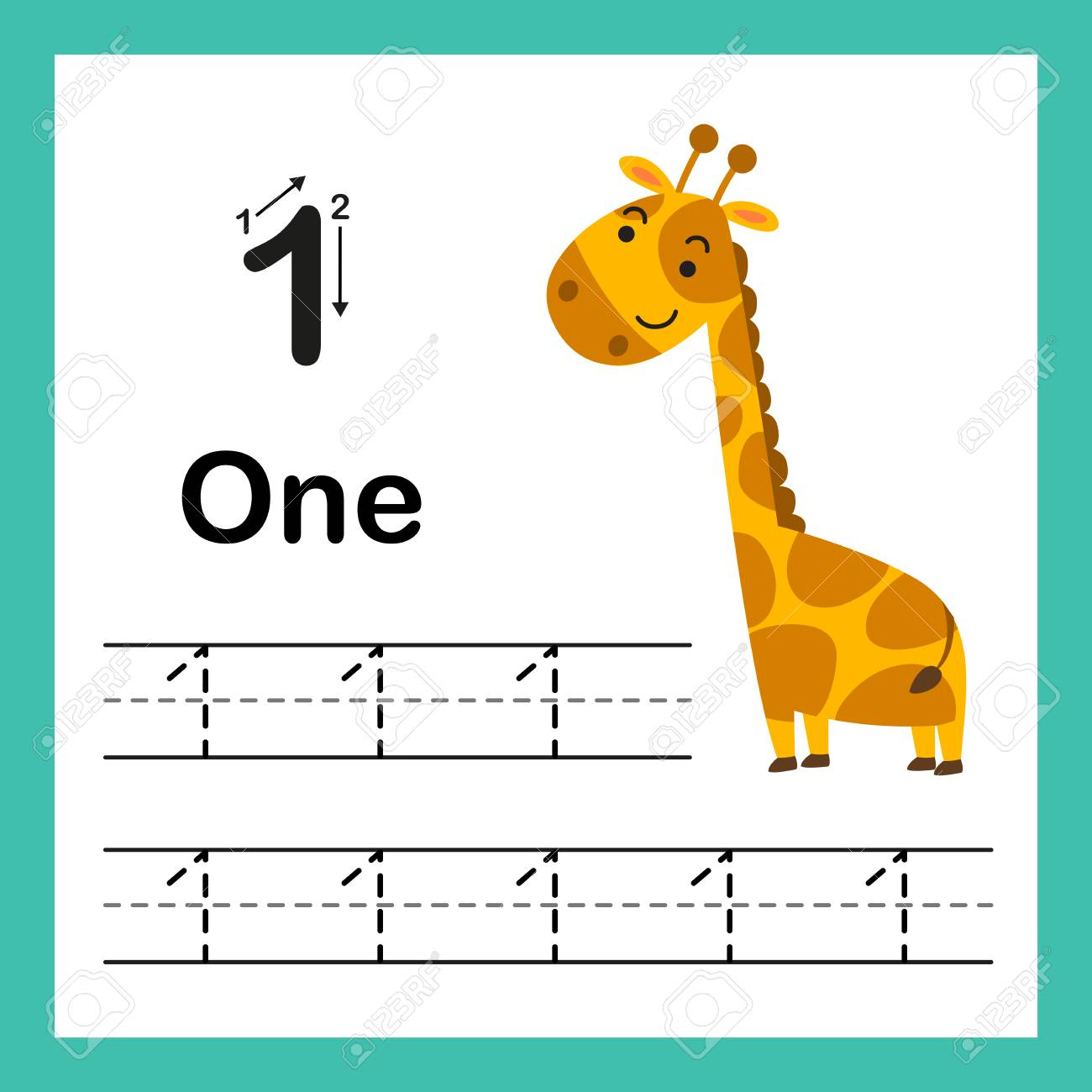 image about Printable Numbers identify Connecting dot and printable figures conditioning with gorgeous cartoon..