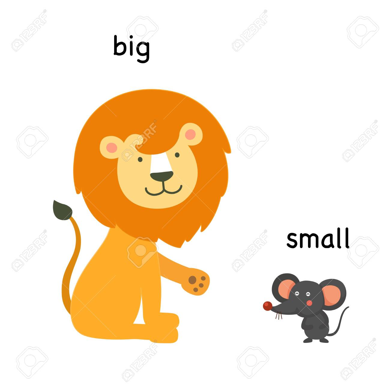 9178ea4c6ca4 Opposite big and small vector illustration