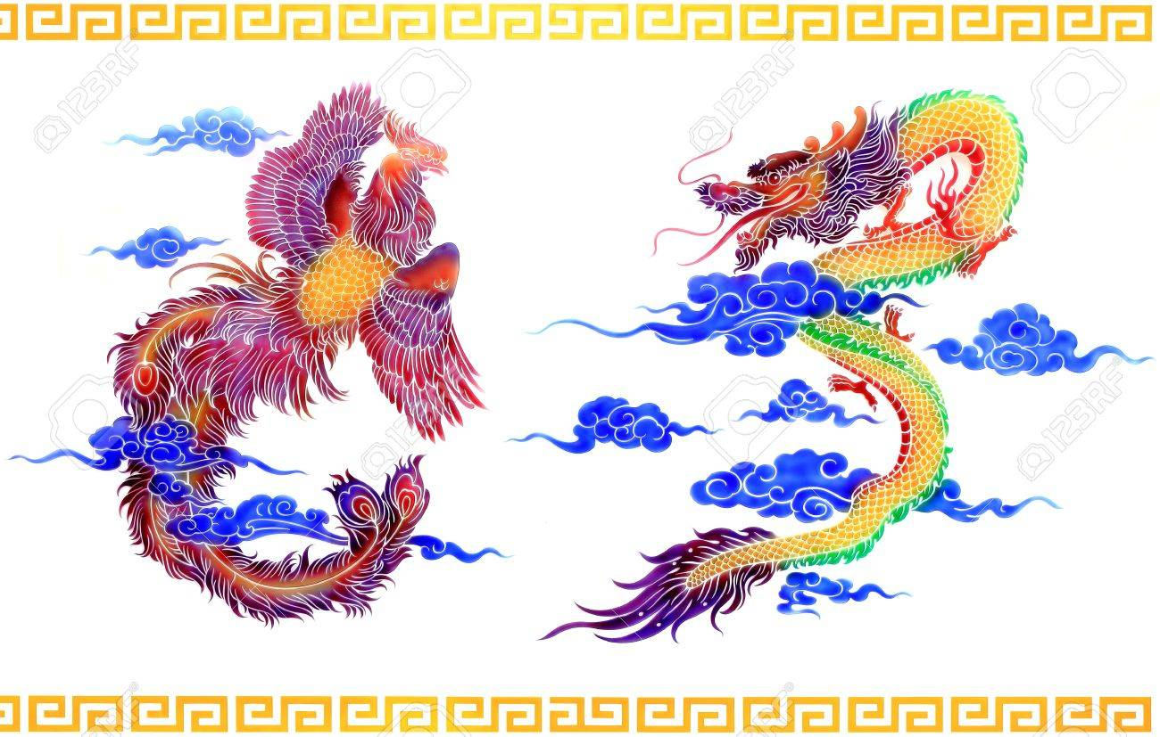 plate of glass dragon and swan Stock Photo - 10849051