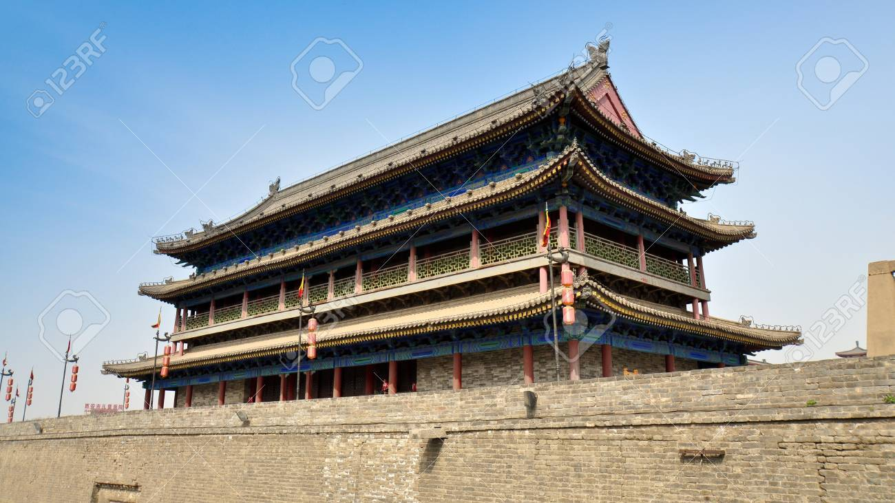 City Of South Gate >> Main Tower Of South Gate Walled City Of Xian China