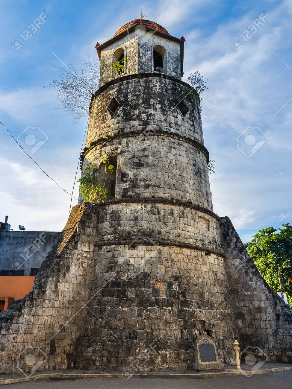 6338 sundown drive 32244 - Historical Bell Tower Made From Coral Stone Dumaguete City Negros Oriental Philippines Stock