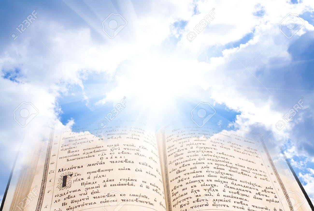 Image result for bible in clouds