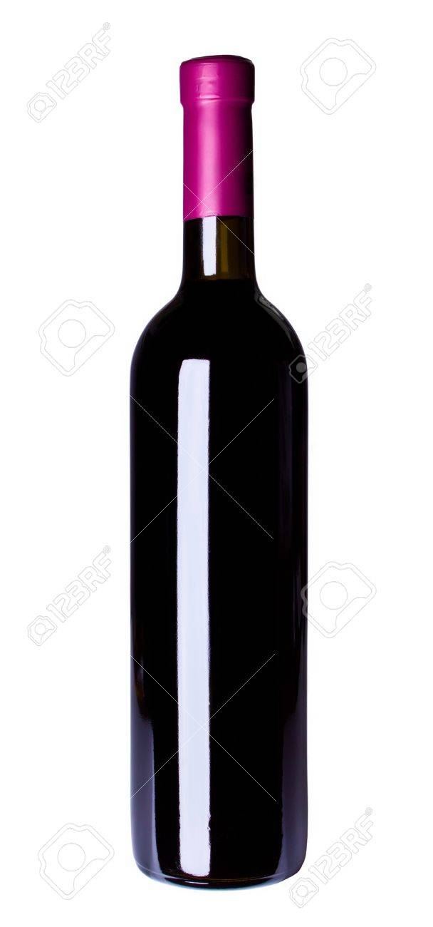 stock photo red wine bottle isolated on the white background bottle red wine