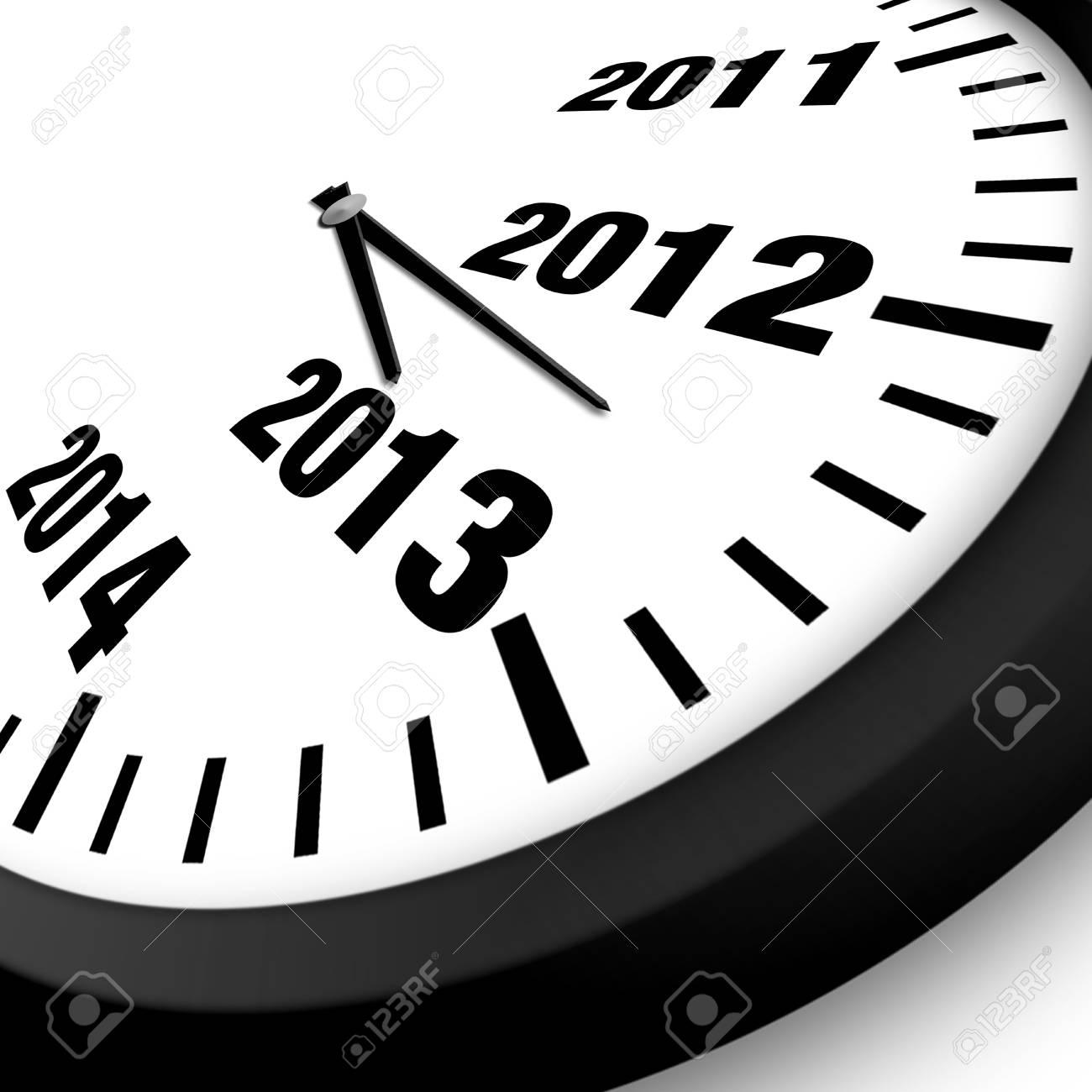 2013 New Year clock Stock Photo - 15119988