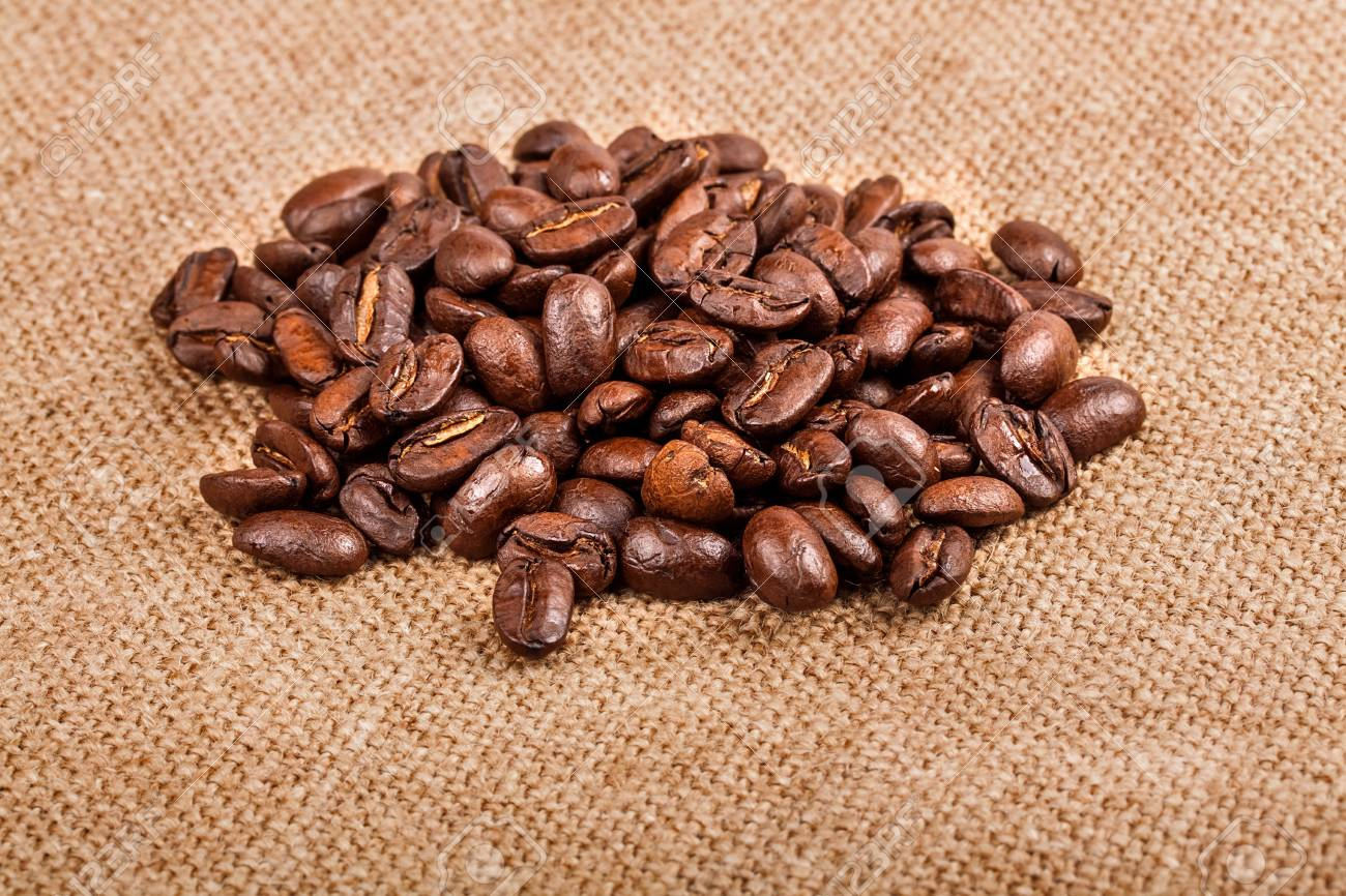 Coffee beans on vintage background Stock Photo - 17475290