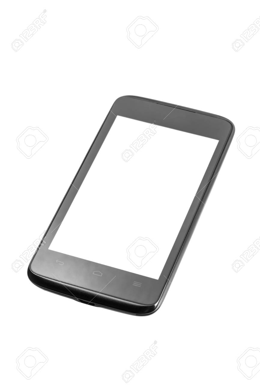 Mobile phone with blank screen isolated on white background Stock Photo - 17890673