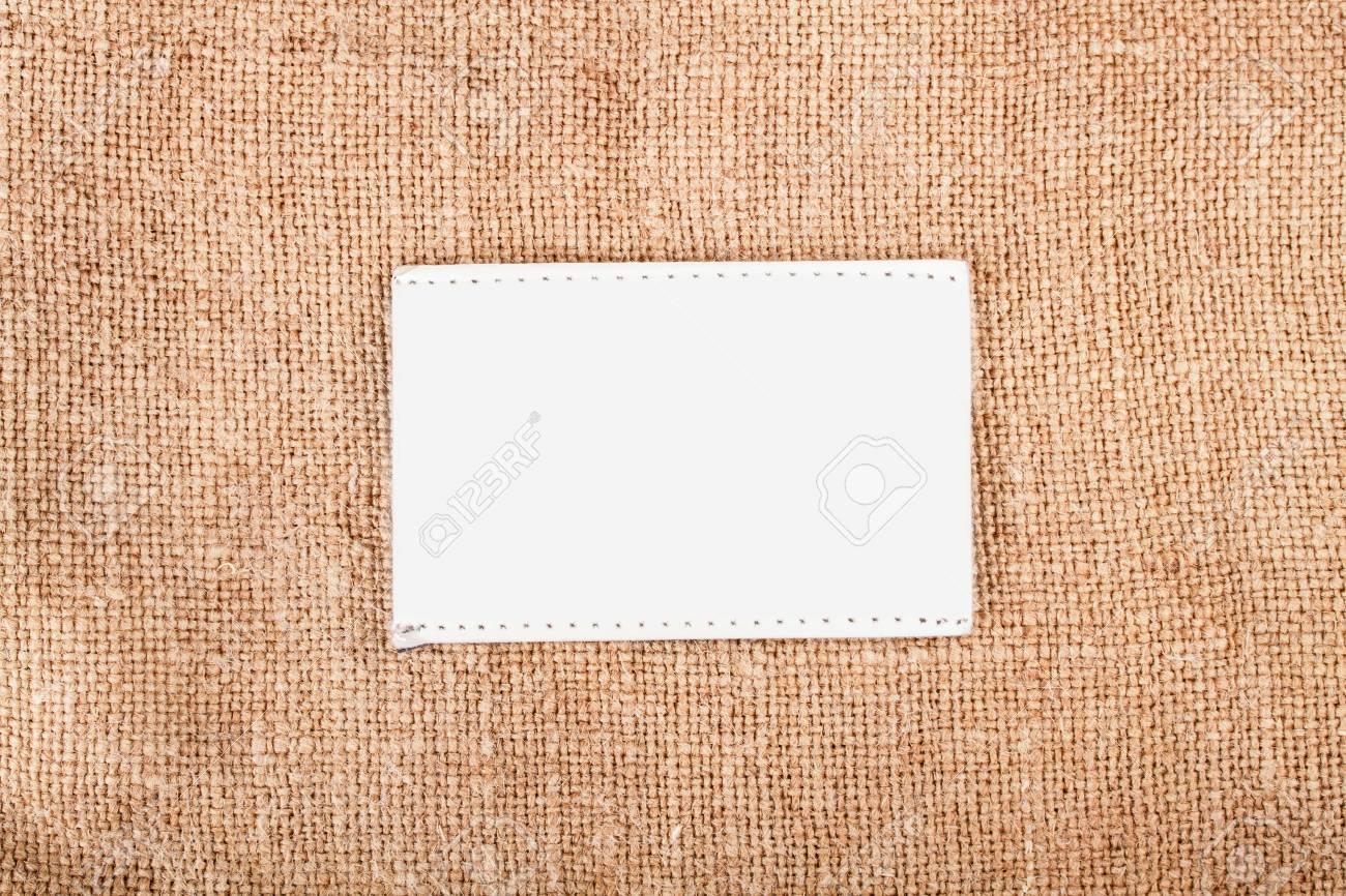 Background texture vintage burlap with label Stock Photo - 17890200