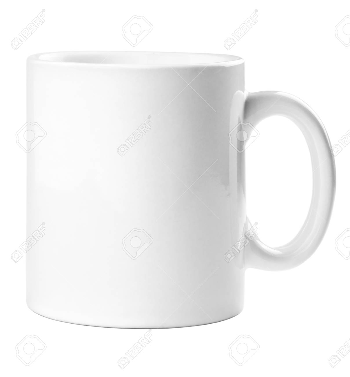 White mug empty blank for coffee or tea isolated on white background Stock Photo - 17890209