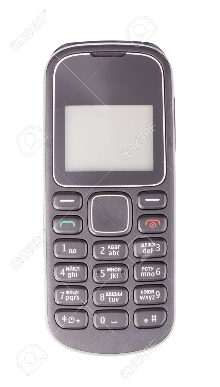 Mobile phone with blank screen isolated on white background Stock Photo - 18876790