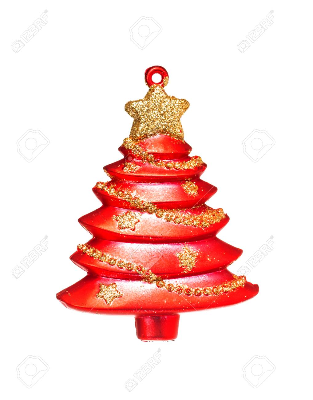 Simple Red Christmas Tree Isolated On Background Stock Photo Picture And Royalty Free Image Image 33806835