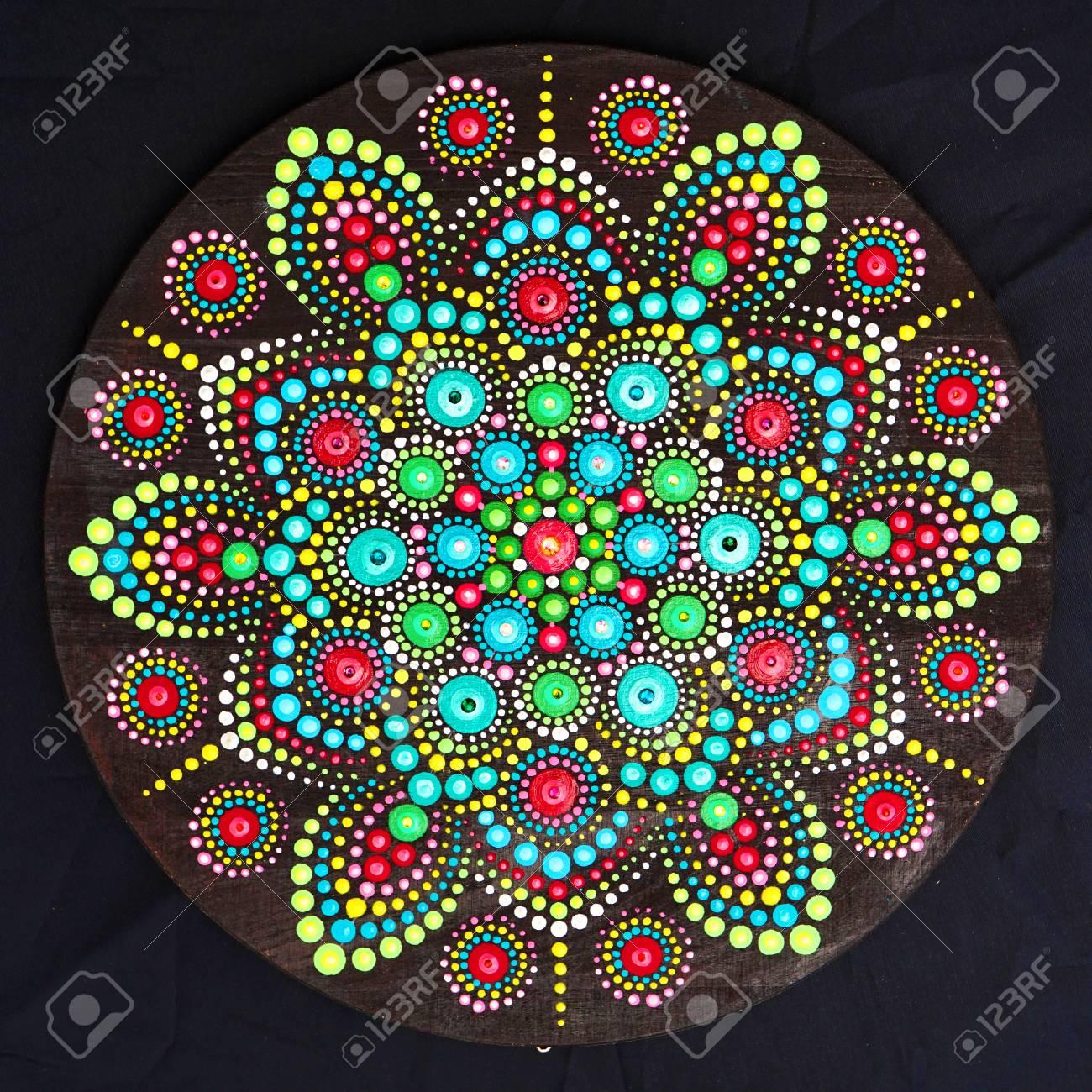 a612e7e1d1db5 Beautiful mandala hand painted by dots