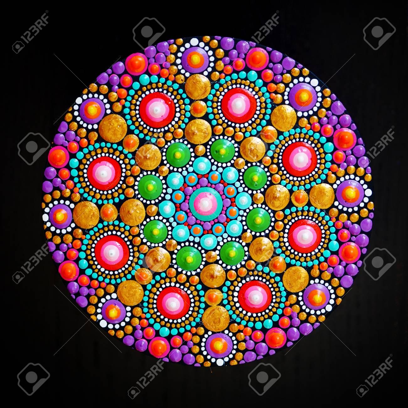 39836e55ea6fc beautiful mandala hand painted on black background