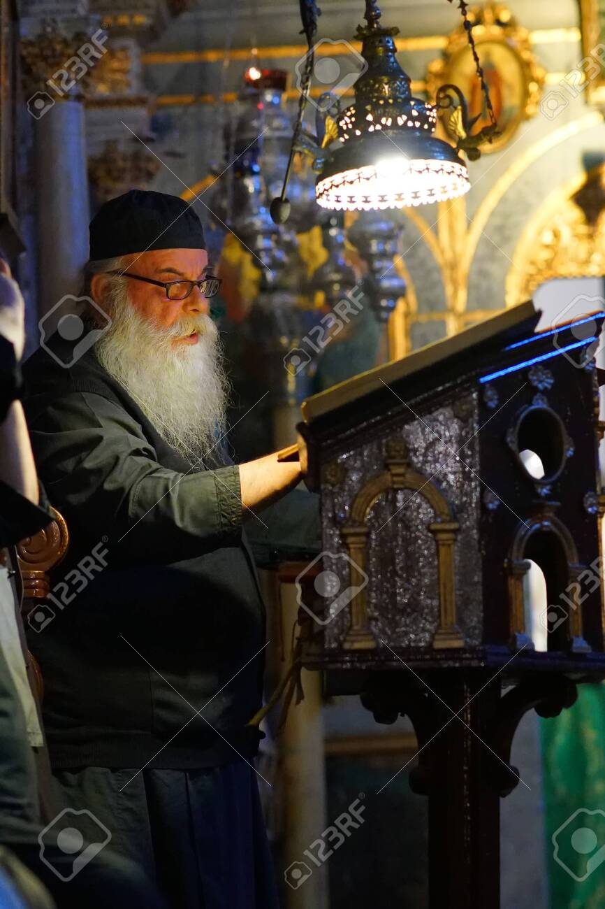 Corfu, Greece, October 18, 2018, afternoon Mass celebrated by