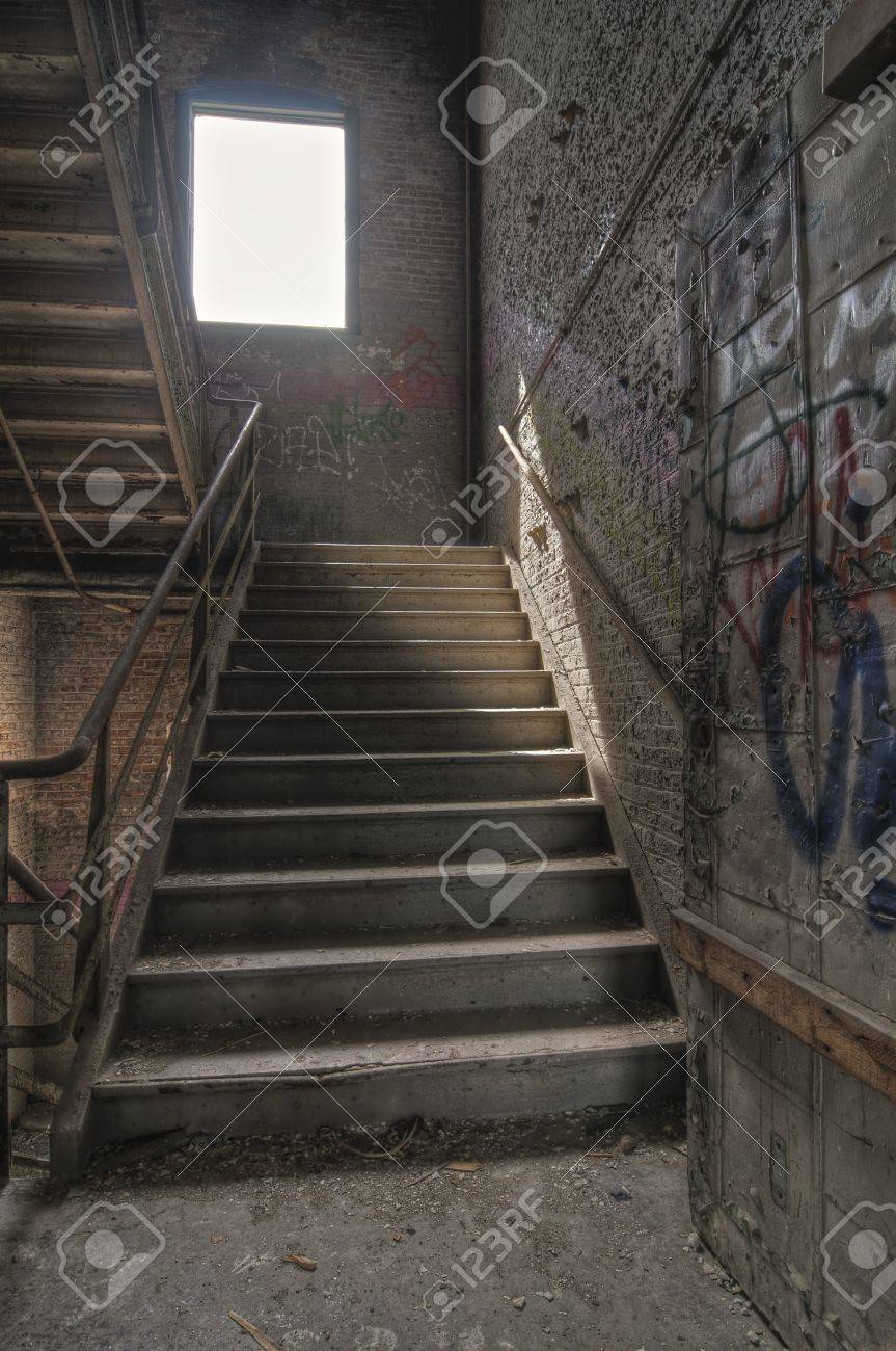 Stairwell with Graffiti Stock Photo - 4828687