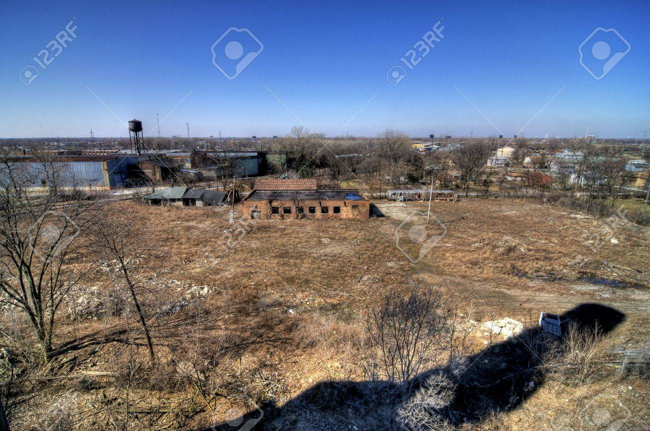 Abandoned Industrial Yard Stock Photo - 5002543