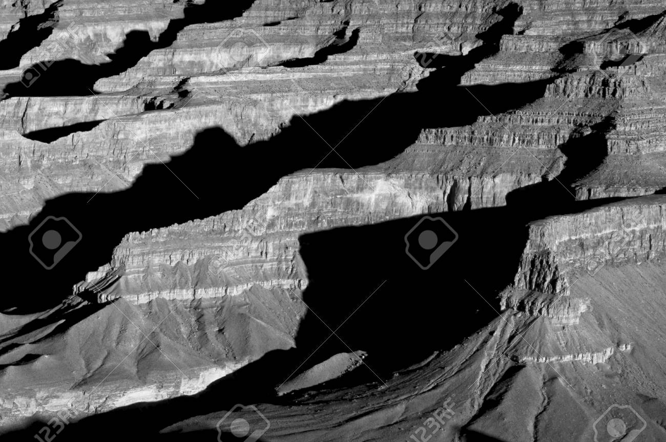 Shadows cross over numerous ridges in Grand Canyon National Park, Arizona Stock Photo - 5928077
