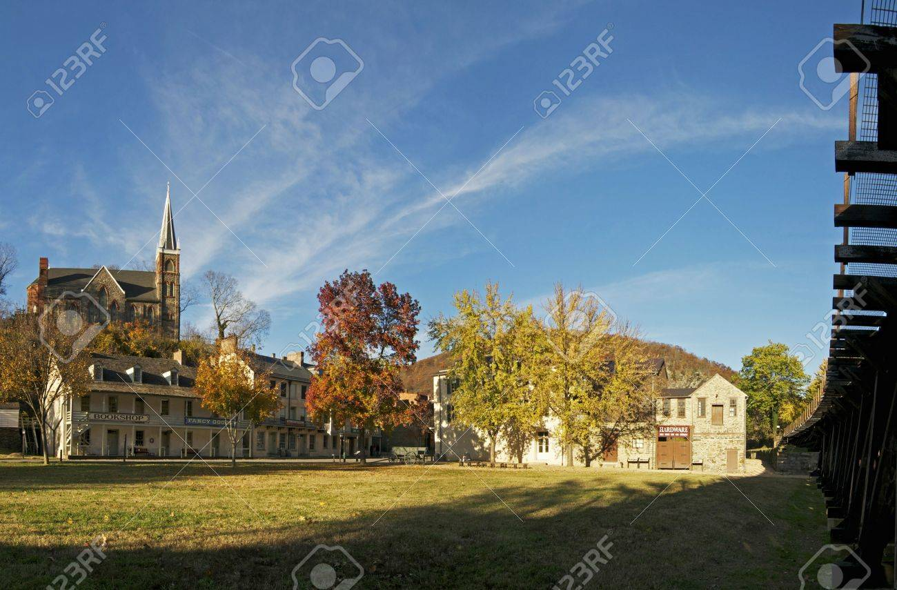 Overview of Historic Harpers Ferry, West Virginia Stock Photo - 11128010
