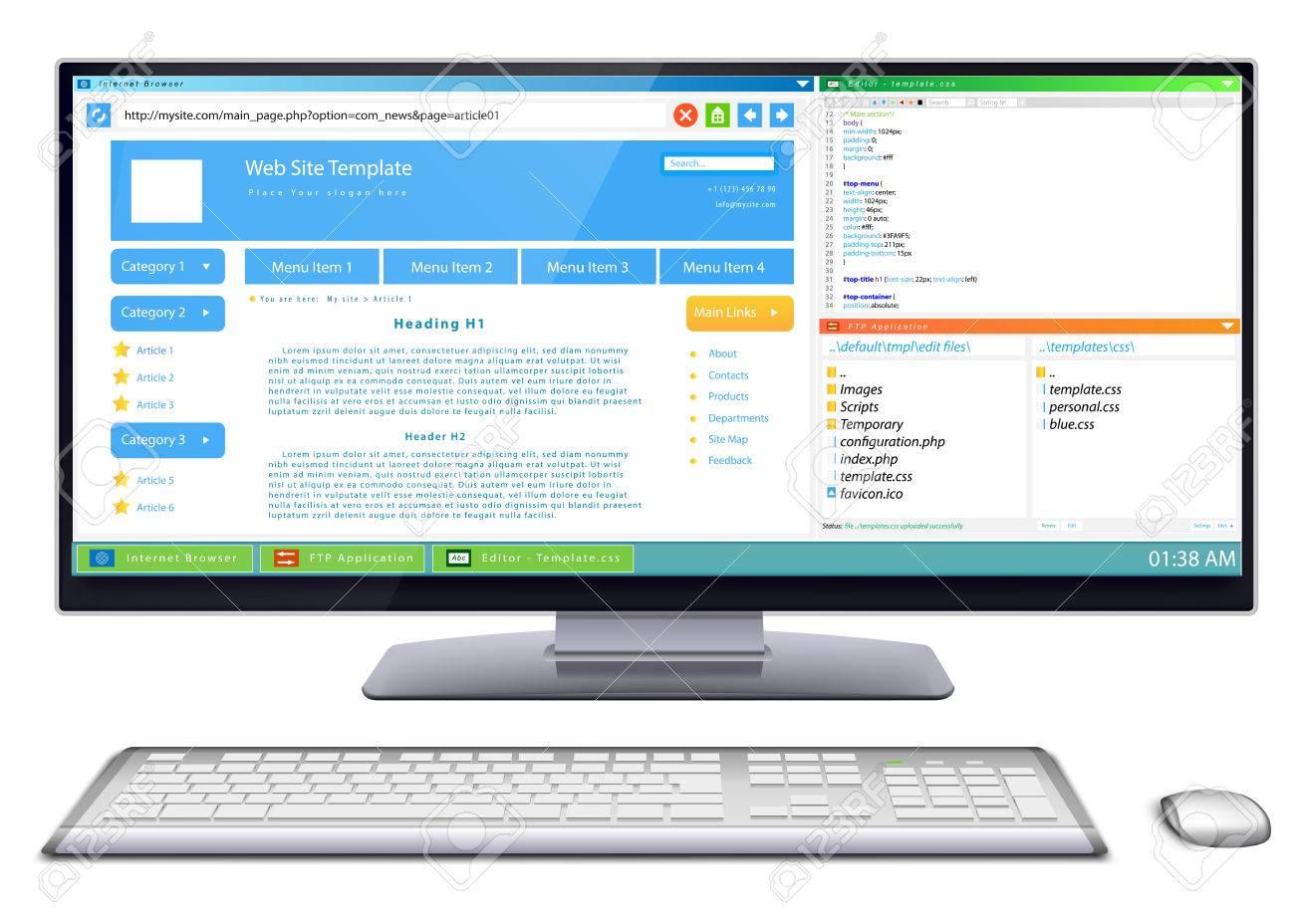 Flujo De Trabajo De Desarrollo De Plantilla De Página Web En El ...