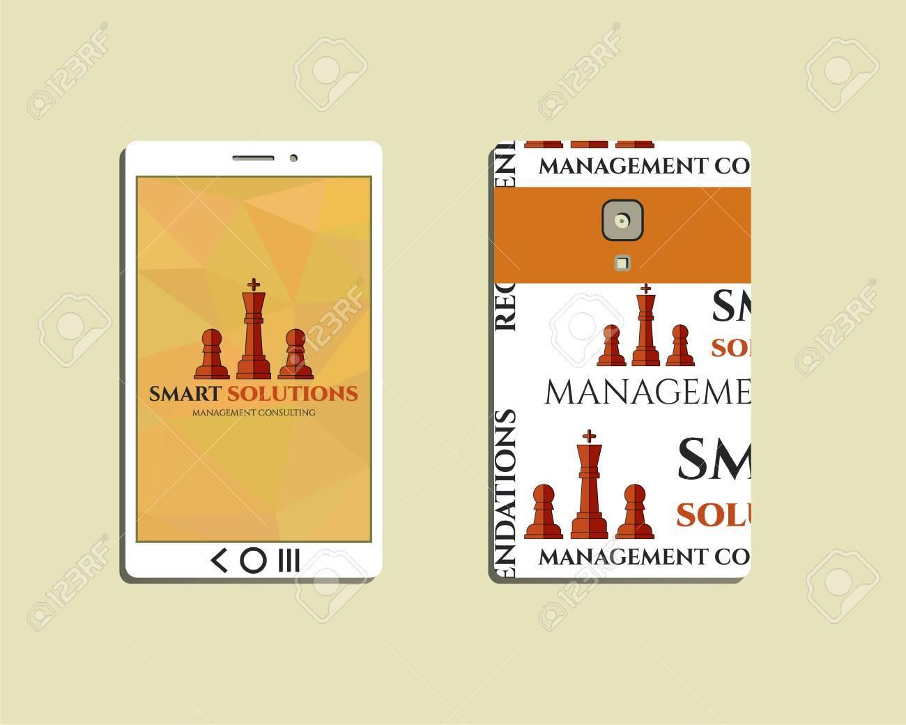 Dispositivo Móvil Plana Y Teléfono Inteligente. Ajedrez Soluciones ...