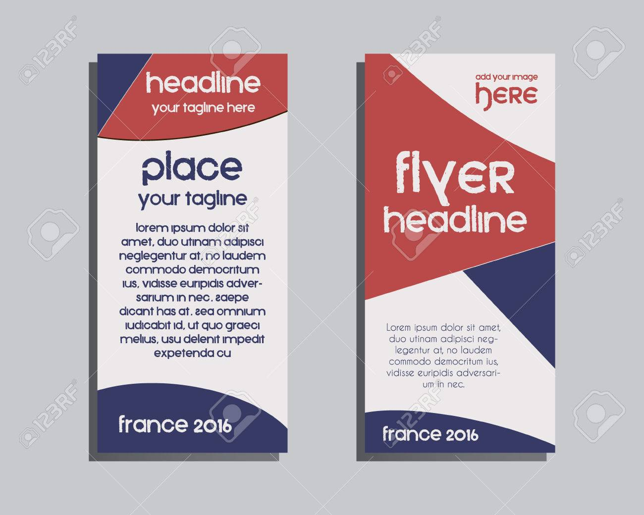 france 2016 football brochure flyer design layout template triangle