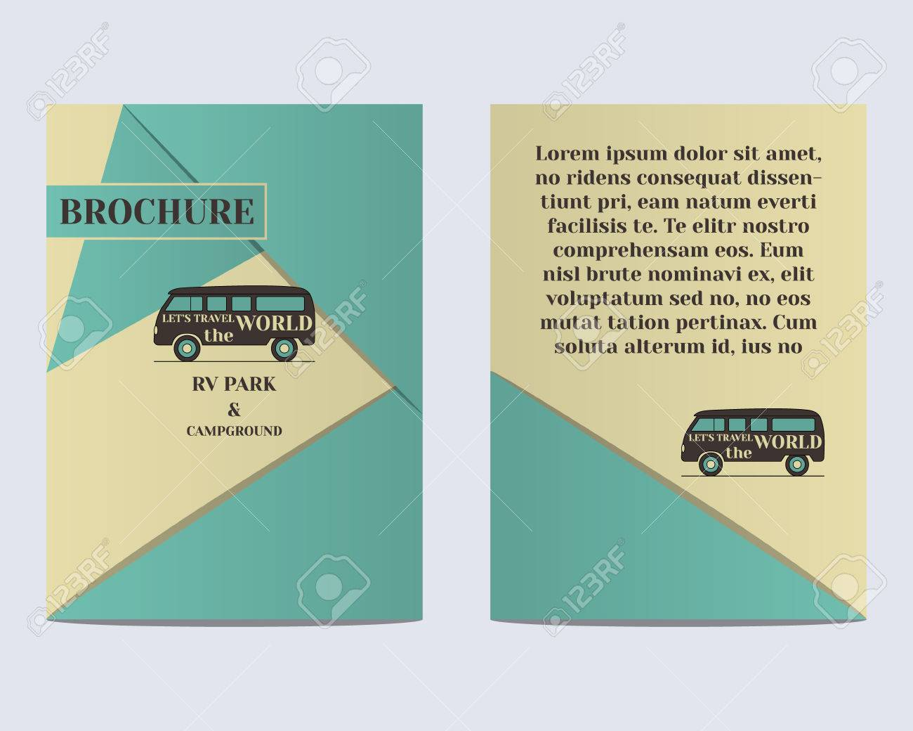 Travel Brochure Flyer Design Layout Template Rv Park And Campground