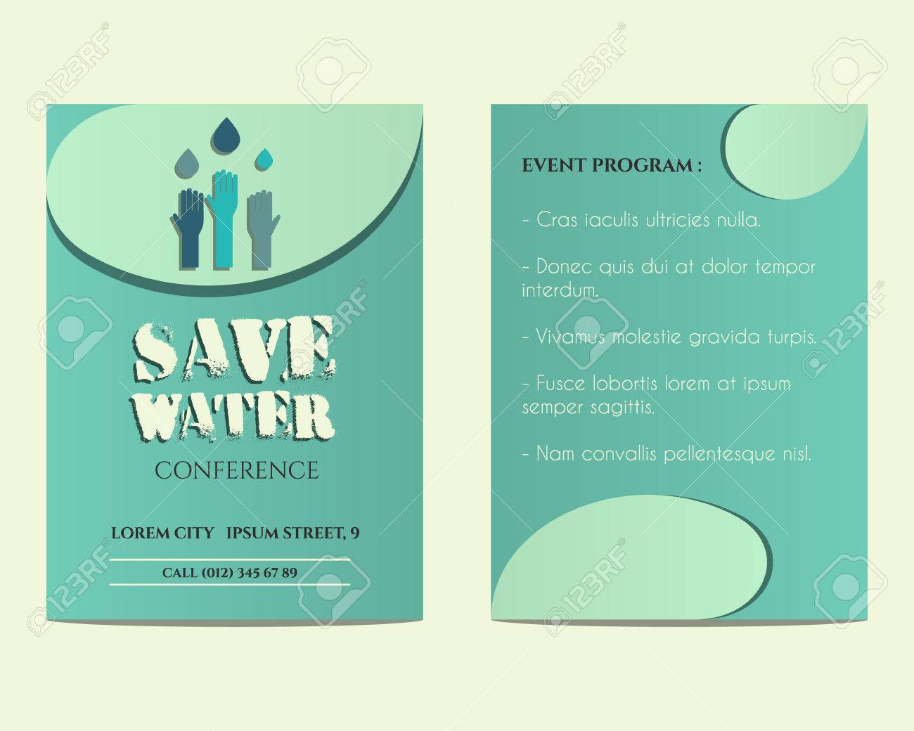 Save water conference flyer and poster invitation template with save water conference flyer and poster invitation template with drops and hands logo template unusual stopboris Choice Image