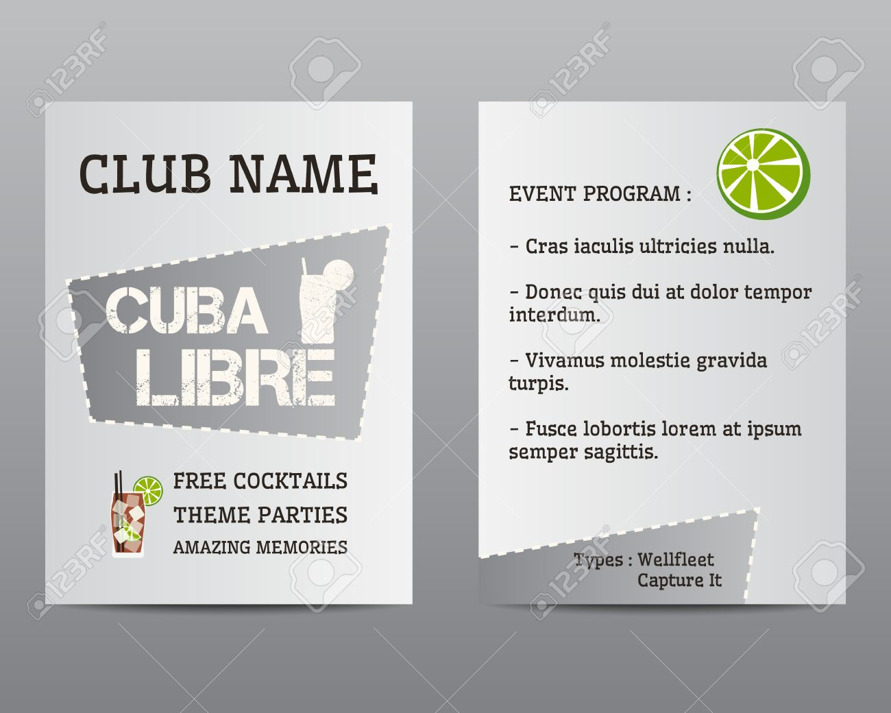 Summer Cocktail Party Flyer Invitation Template With Cuba Libre – Cocktail Party Invite Template