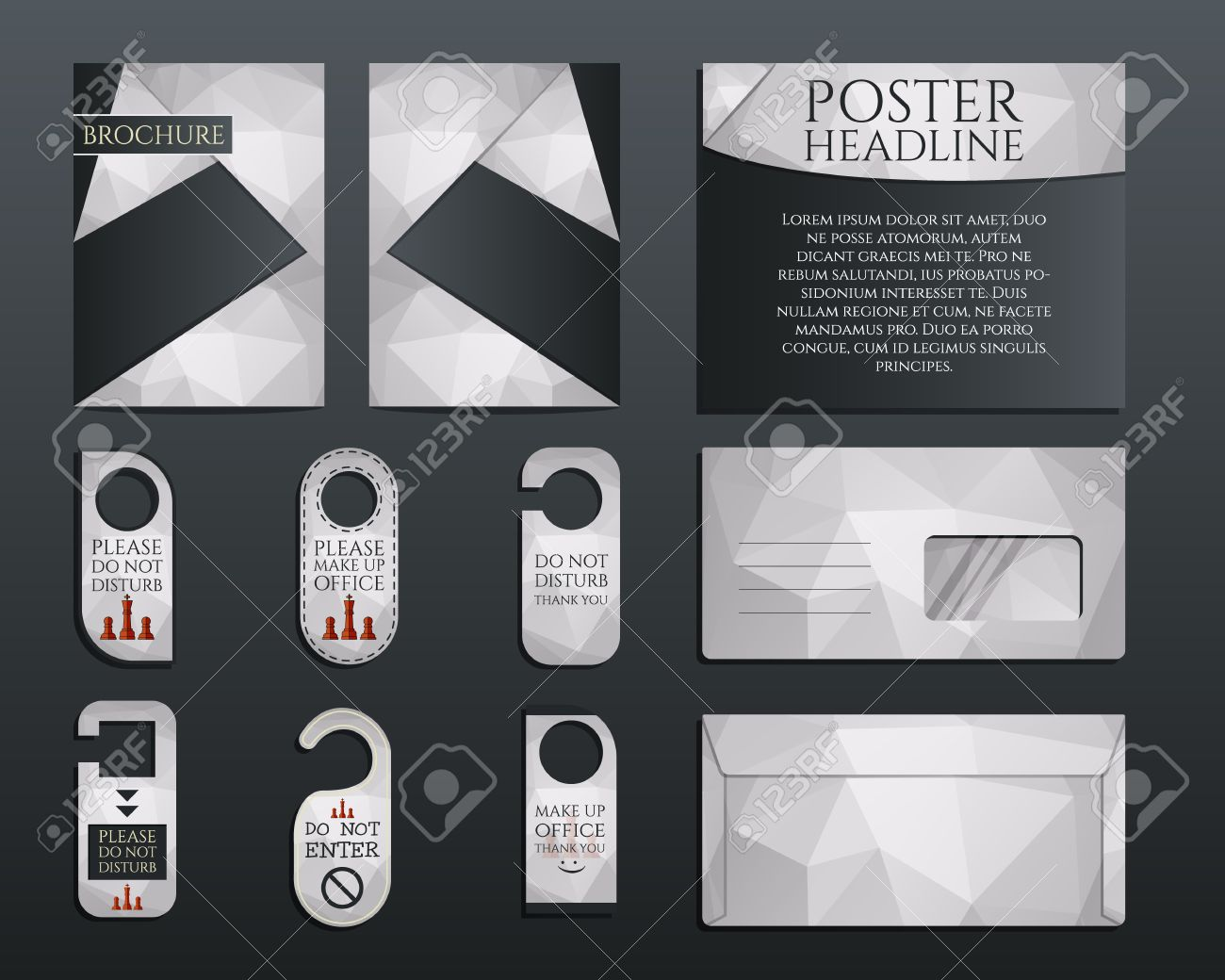Business Corporate Branding Identity Set. Brochure And Flyer ...