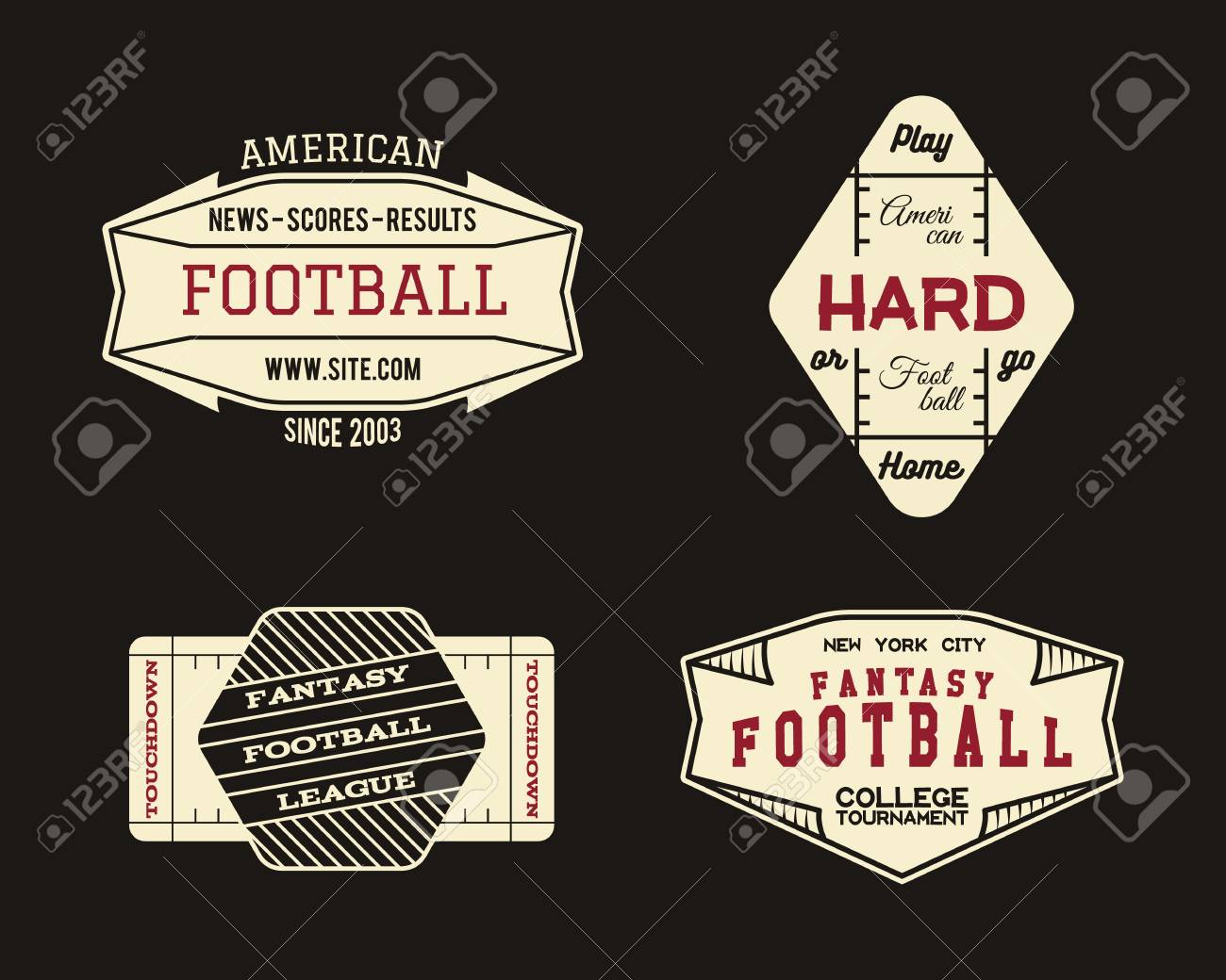 ad14ddae5 American Football Field Geometric Team Or League Badge