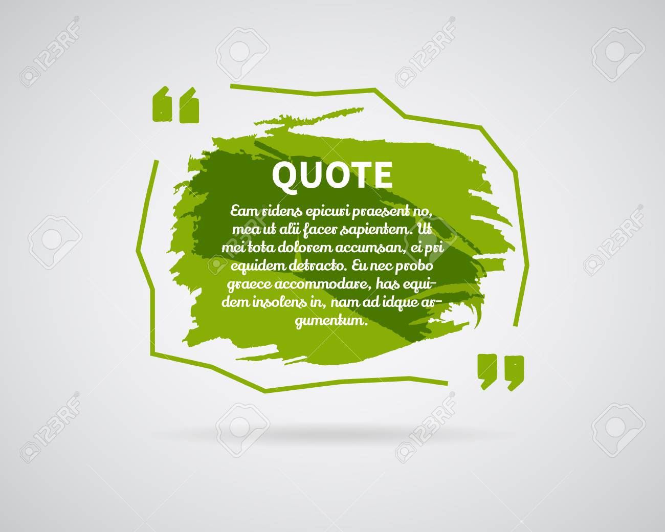 quote blank templates watercolor ink splash quote bubble