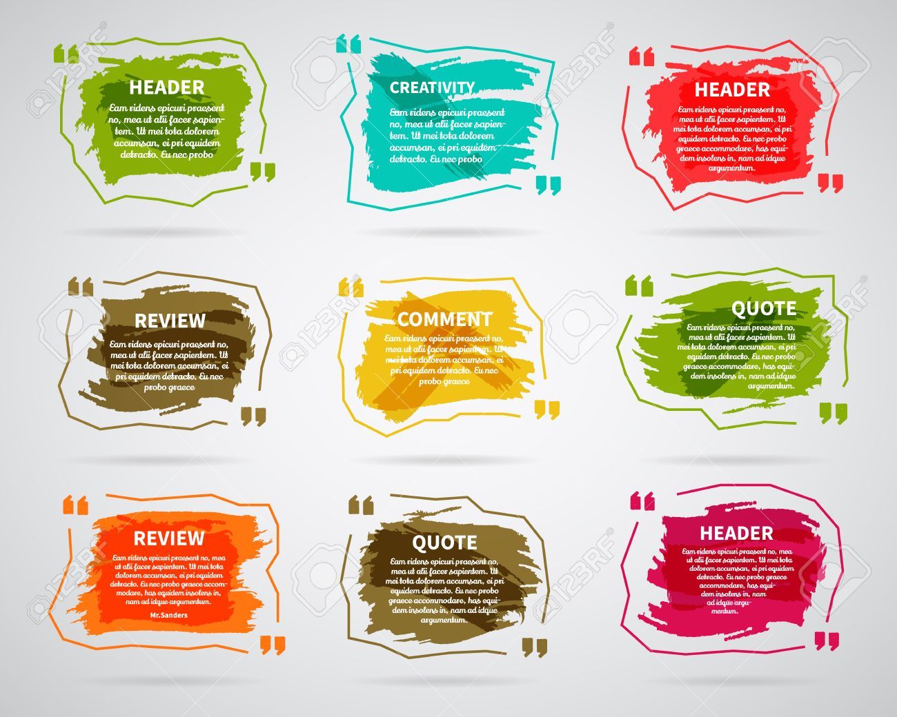 98857 text box cliparts stock vector and royalty free text box watercolor ink splash quote blank templates quote bubbles empty template circle magicingreecefo Images
