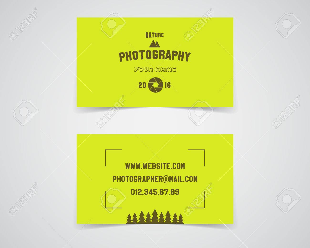 Modern light business card template for nature photography studio modern light business card template for nature photography studio unusual design corporate brand identity reheart Image collections