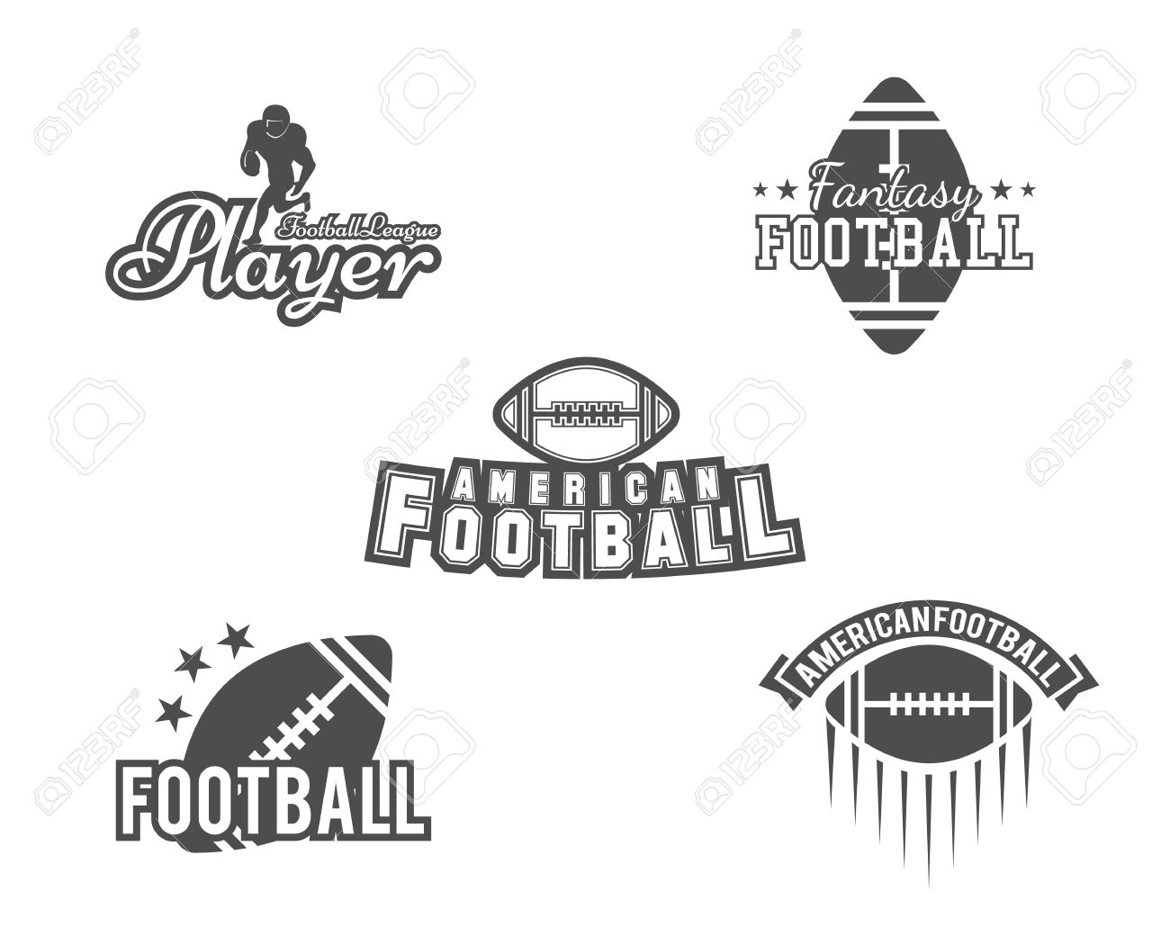 photo about Printable College Logos identify University rugby and american soccer employees, university badges, emblems,..