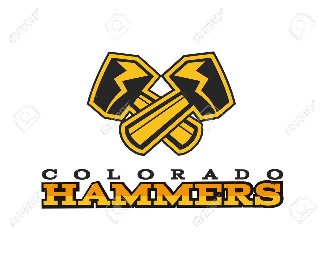 American Football Label. Hammer Logo Element Innovative And ...