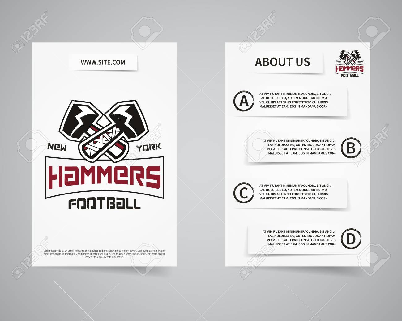 American-Football-Team-Präsentation Flyer Vorlage Design. Usa Sport ...