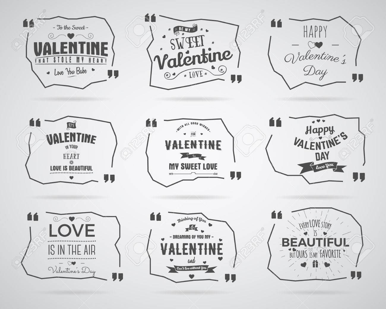 valentine day watercolor ink splash quote blank templates