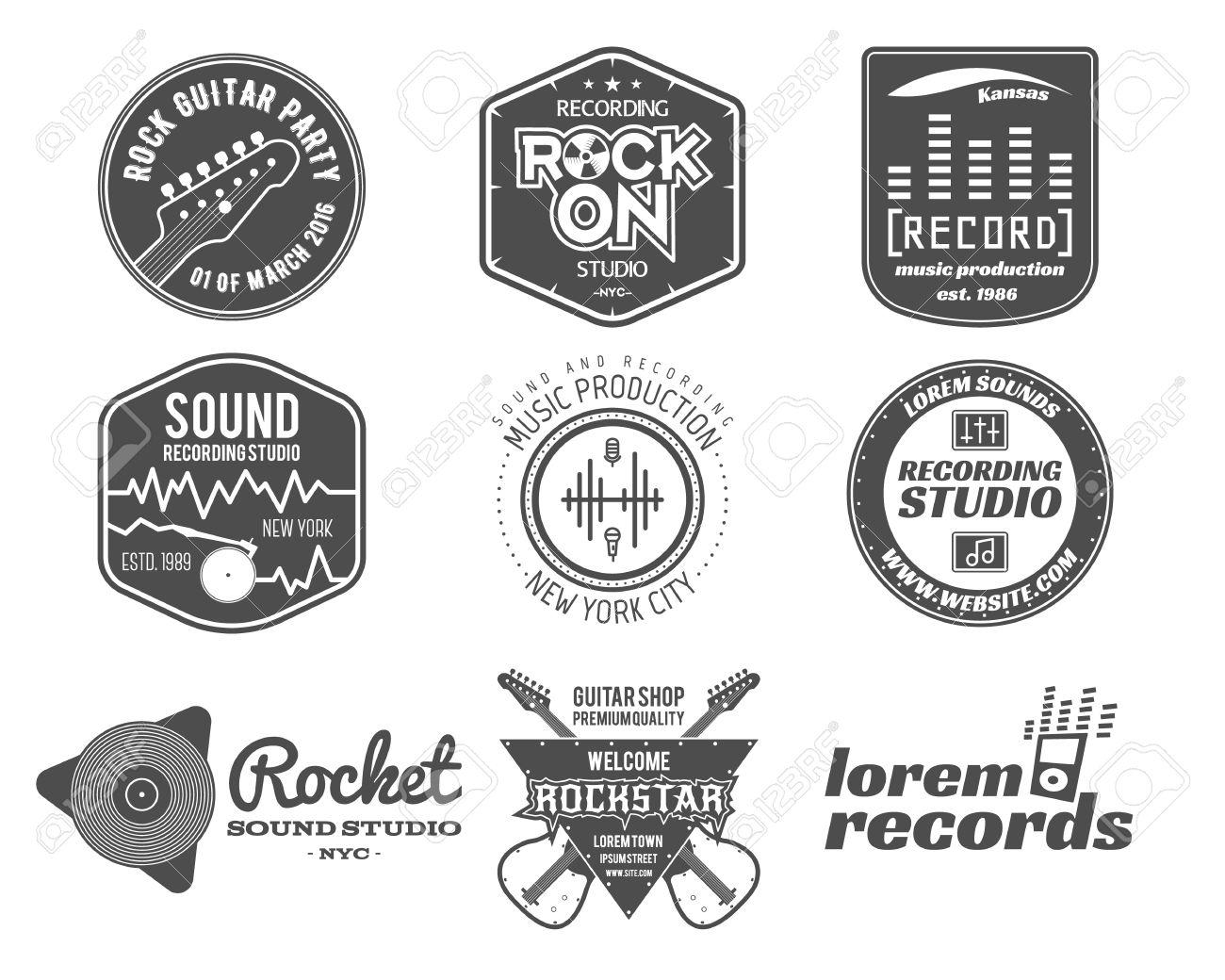 Fabuleux Ensemble De Musique De Vecteur Logo De Production, L'étiquette @SF_53