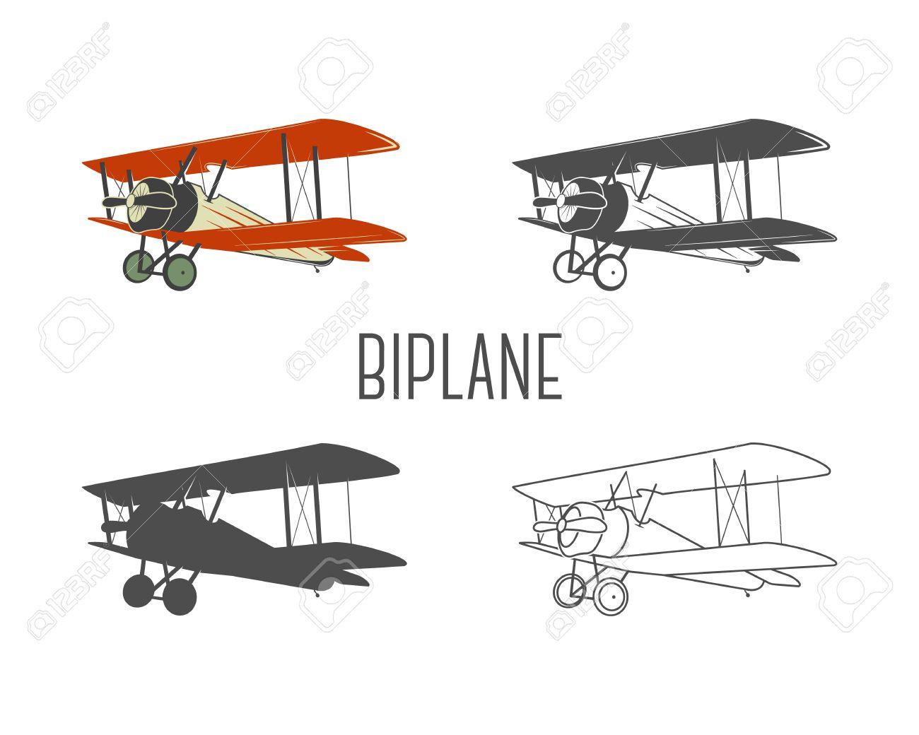 ビンテージ航空機設計要素のセッ...