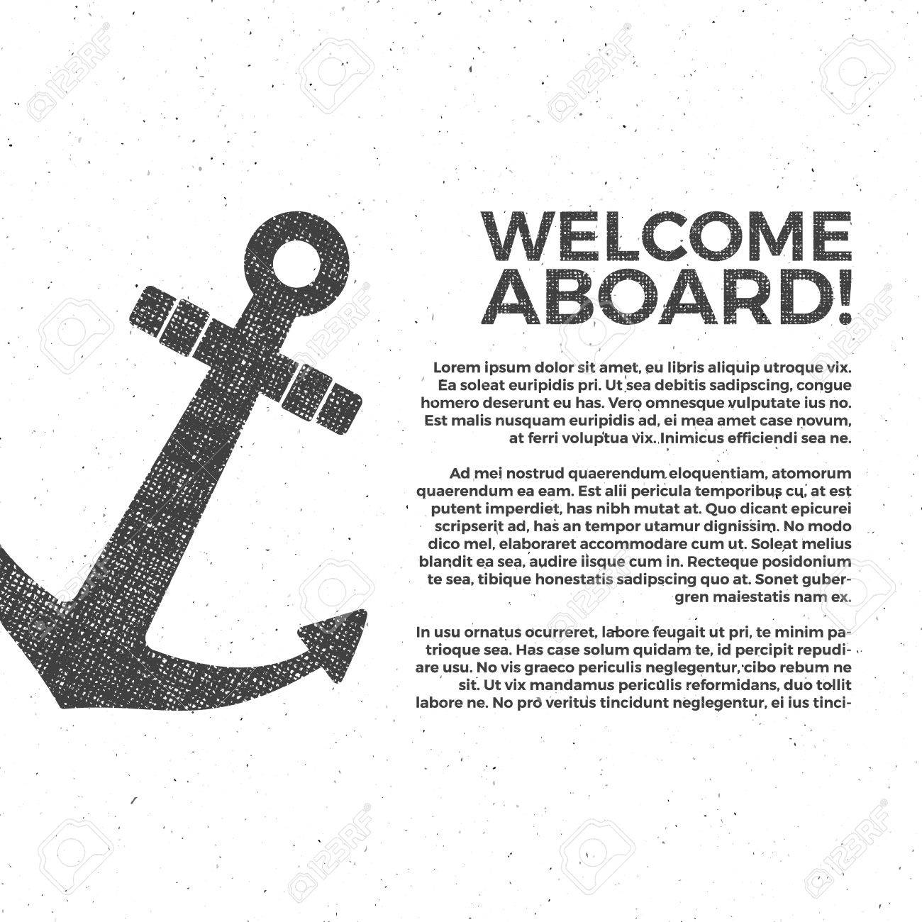 Nautical Banner Design Sailor Poster Template Anchor Label
