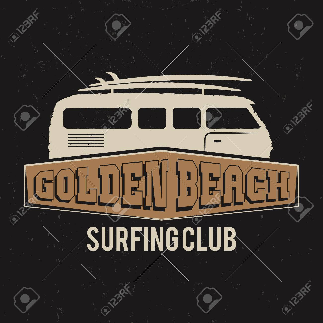 Vintage Surfing Club Tee Design Retro T Shirt Graphics And Emblem