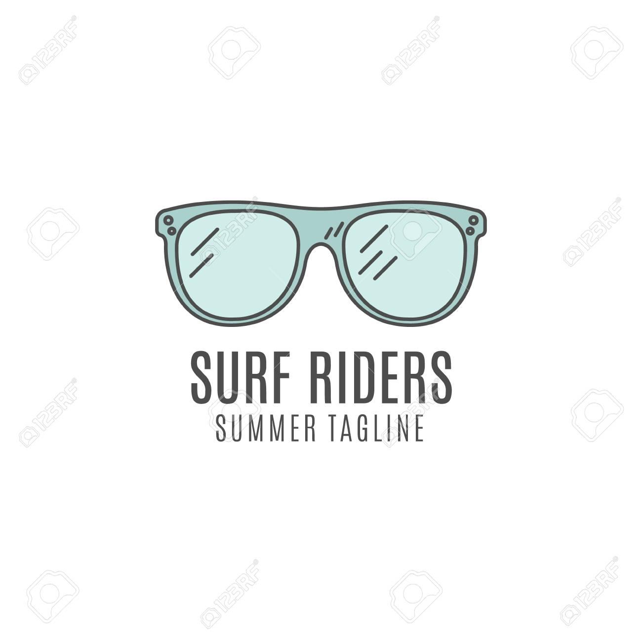 Minimalistic-Surfen-Konzept. Sommer-dünne Linie Flache Tropischen ...