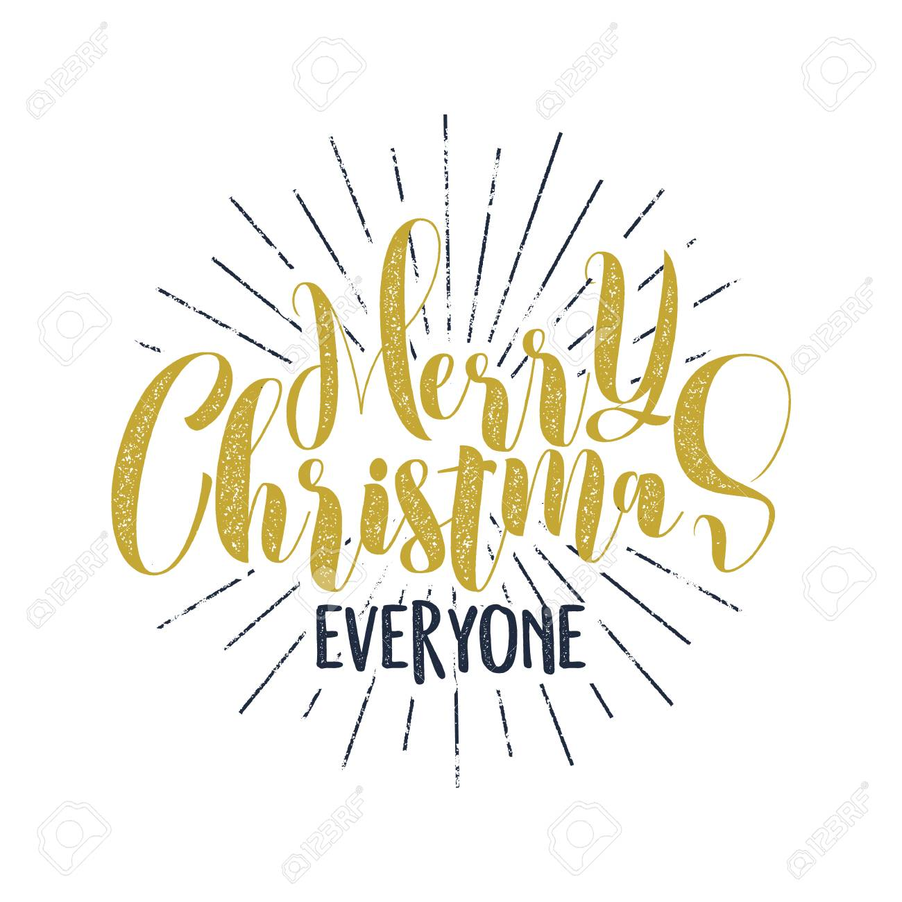Merry Christmas Everyone Lettering, Holiday Wish, Sayings And ...