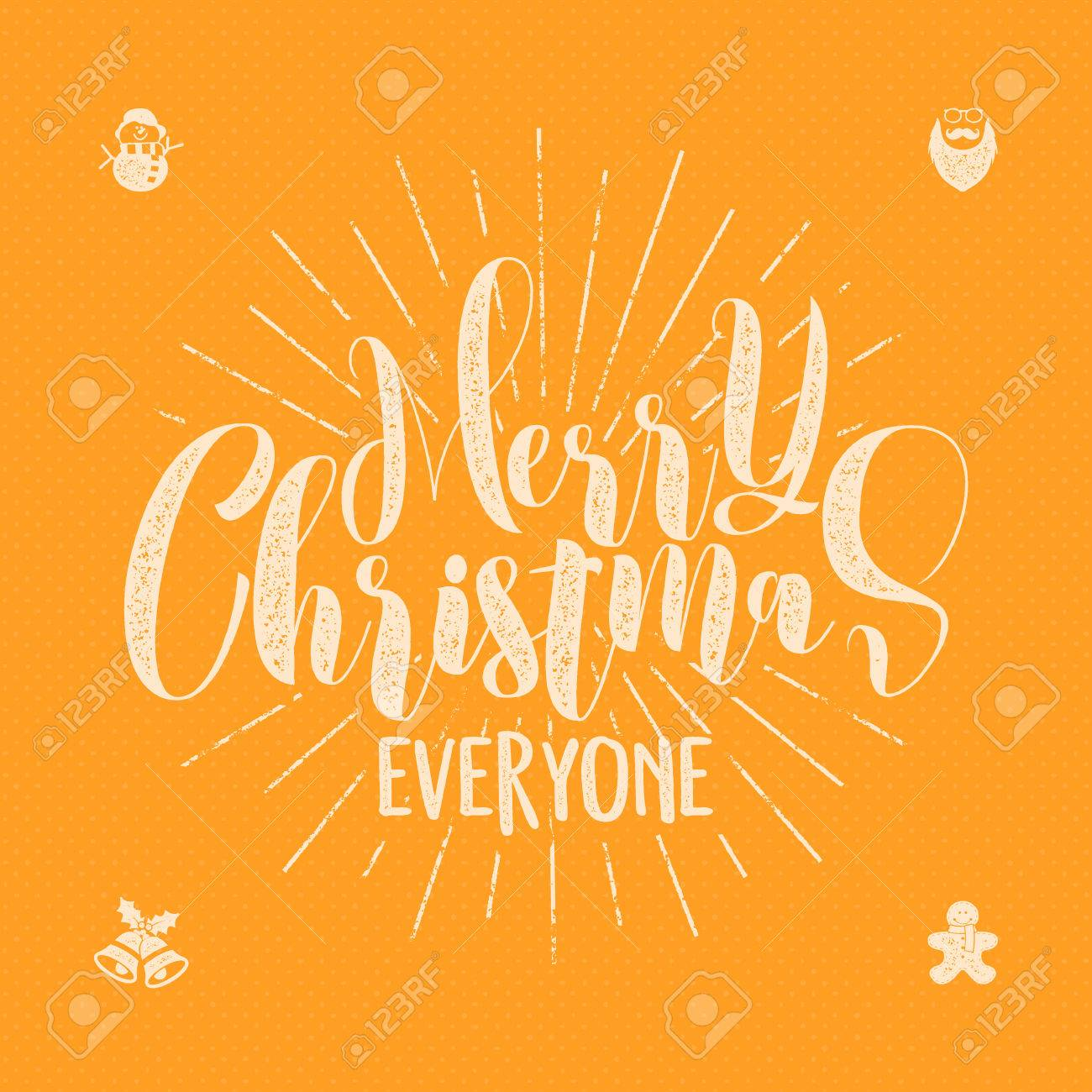 Merry Christmas Sayings.Stock Illustration