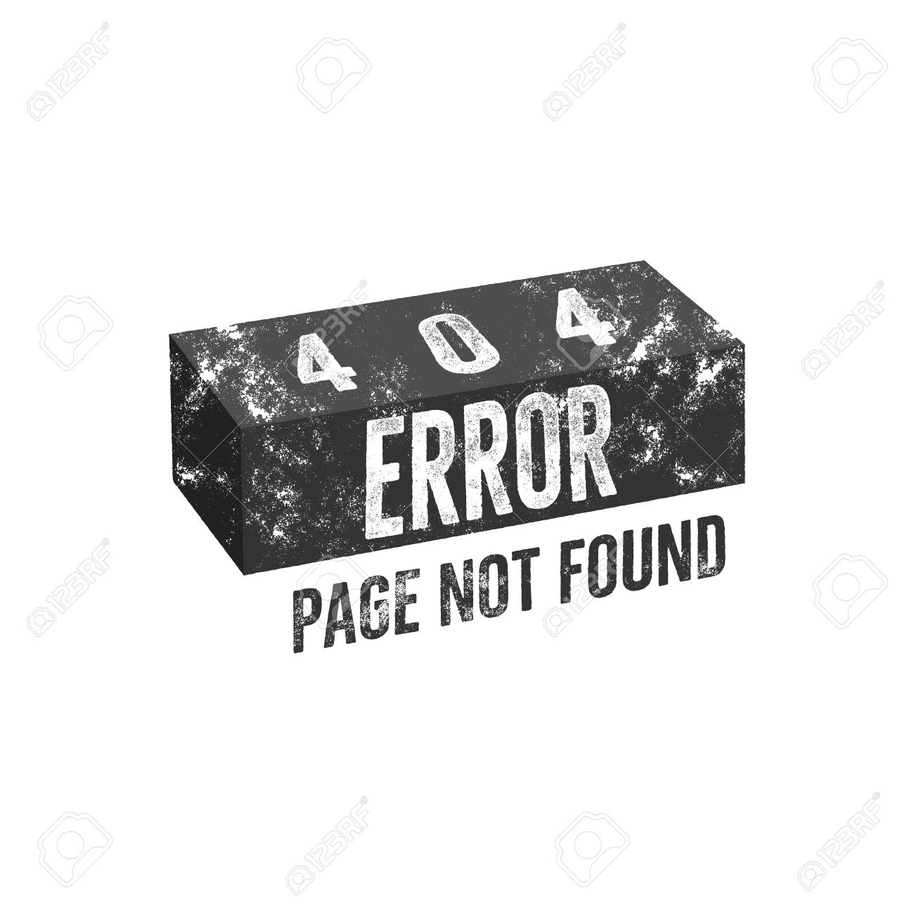 404 Error Page With Brick Concept Of Not Found Message