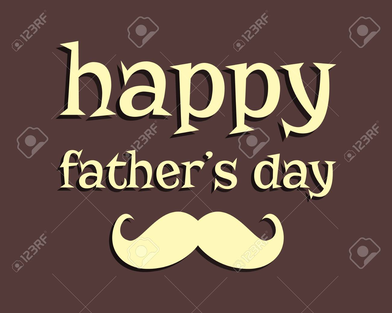 Happy Fathers Day Greeting Template Background Mustache Unusual