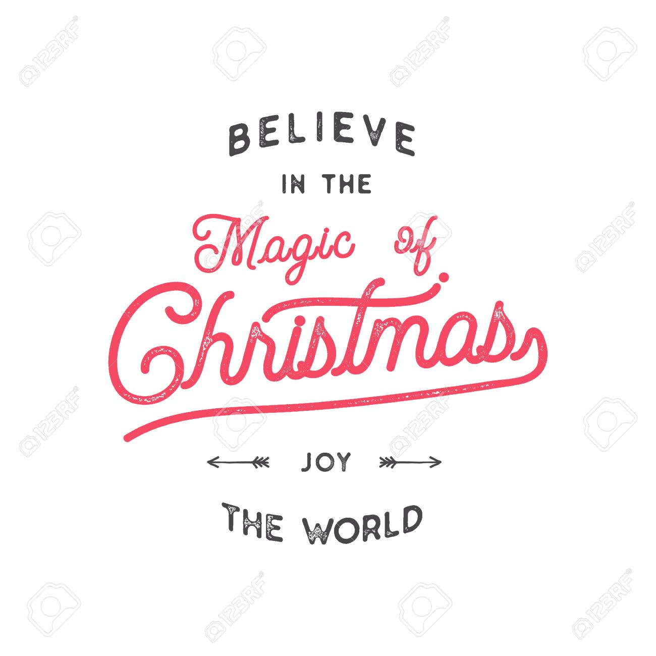 Christmas Typography Quote Design. Believe In Christmas Magic ...