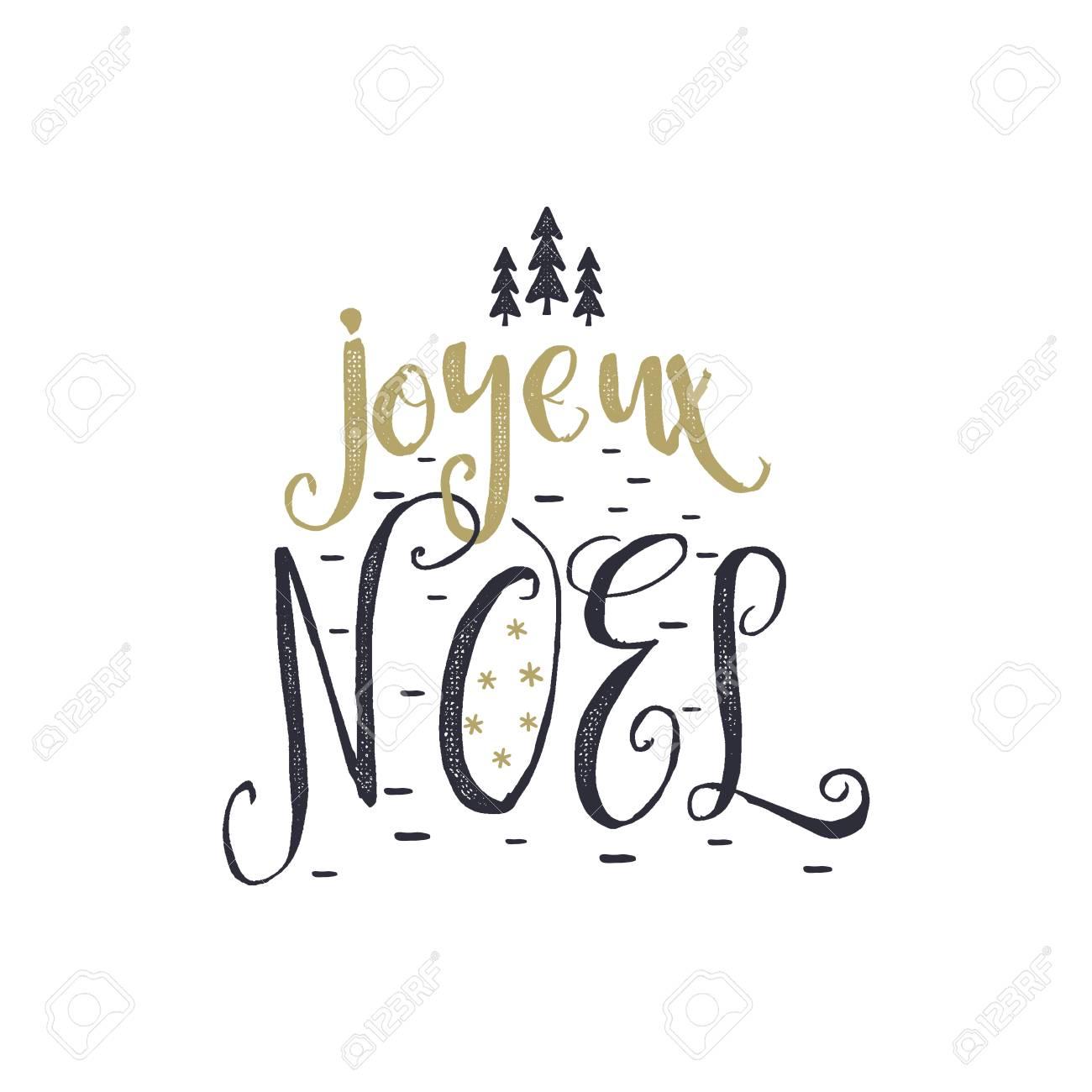 Joyeux Noel Clipart.Christmas In French Greeting Joyeux Noel Typography Joyeux