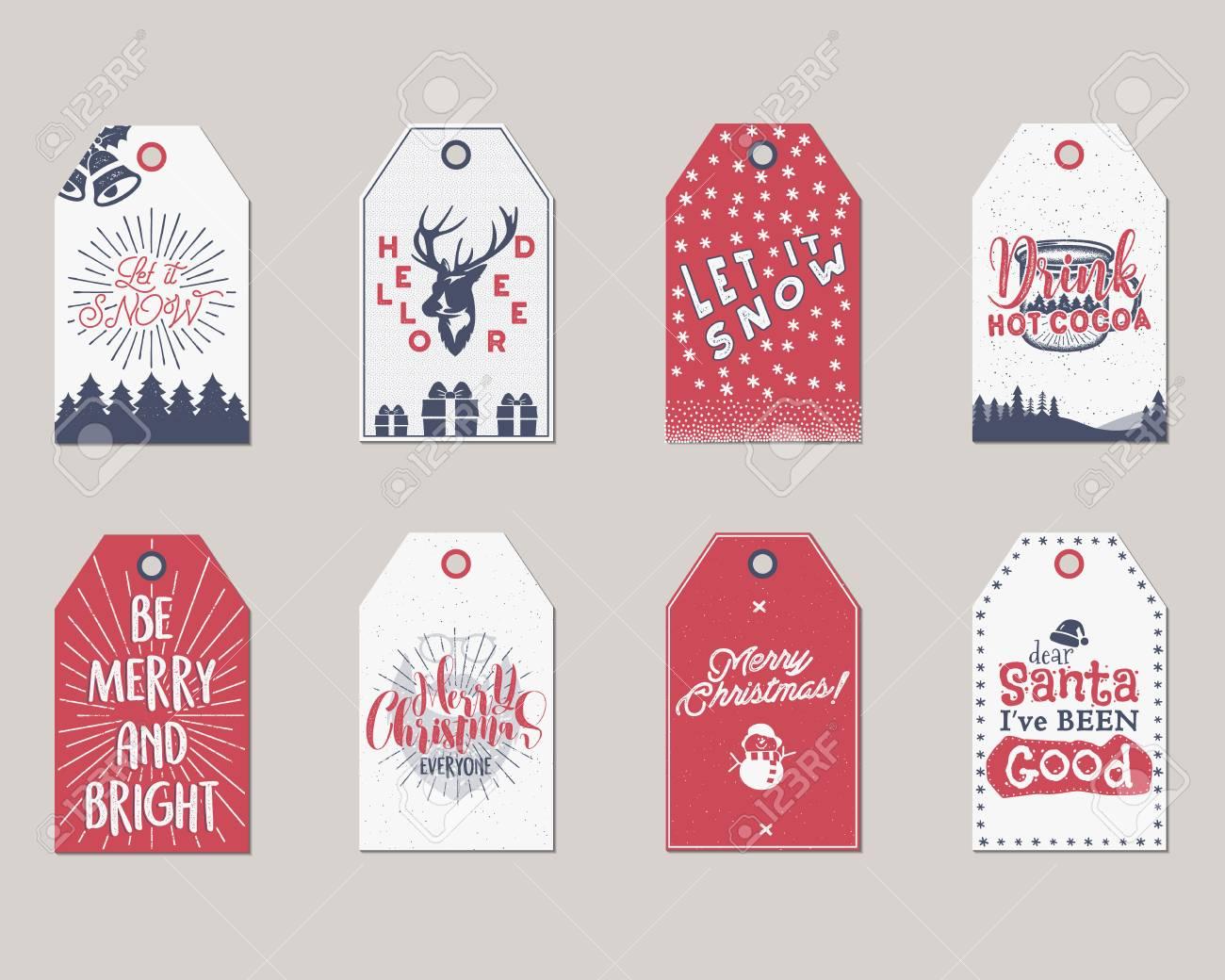 Frohe Weihnachten Und Neujahr Geschenkanhänger Sammlung ...