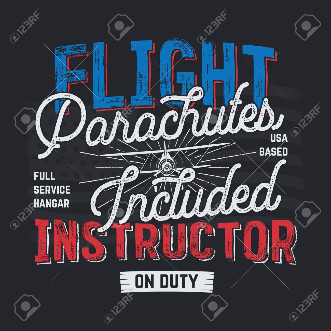 Vintage hand drawn tee graphic design  Flight Instructor quote